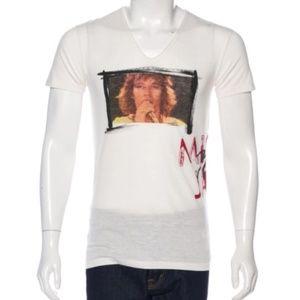 Dolce & Gabbana Mick Jagger Vneck T-shirt Sz 48 IT